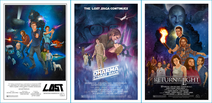 LOST+Star Wars Poster Trilogy